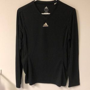 Adidas long sleep black tee shirt